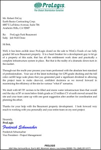 Earth Basics General Engineering Contractor Prologis Referral letter 1